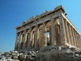 The Parthenon, the famous building of ancient Greece, is a temple of Athena. It was built in the fifth century BC on the Acropolis of Athens. It has been praised as the finest achievement of Greek architecture.